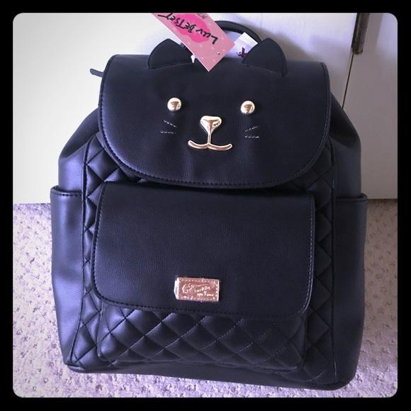 b0459d6e623c New black cat Kitty Backpack Betsey Johnson